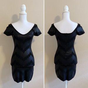 A|X Armani Exchange | Black Bodycon Dress